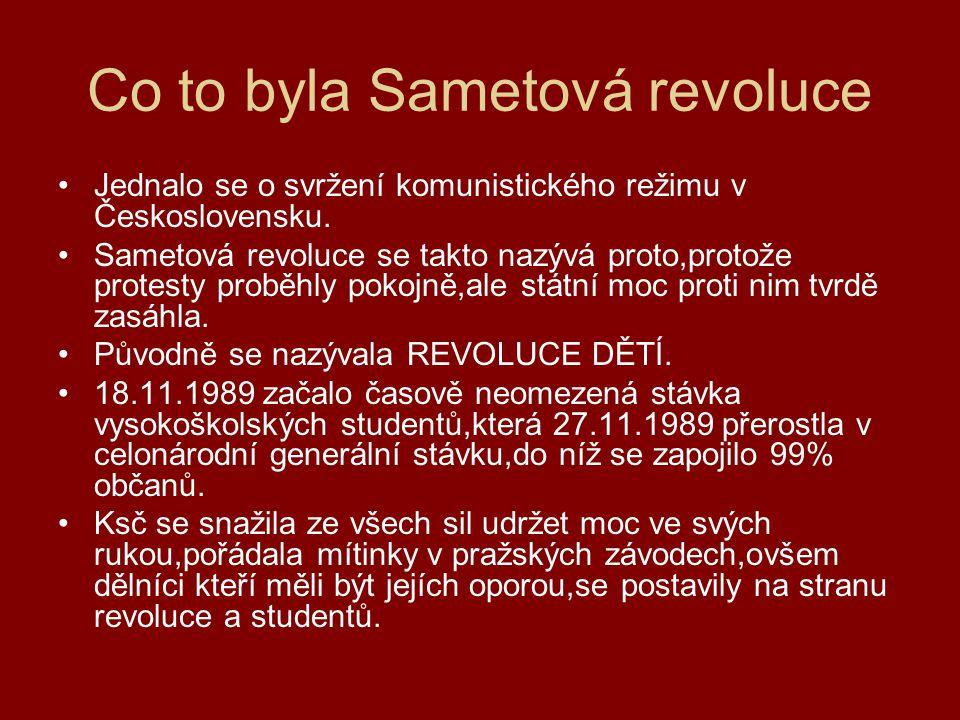 Co to byla Sametová revoluce
