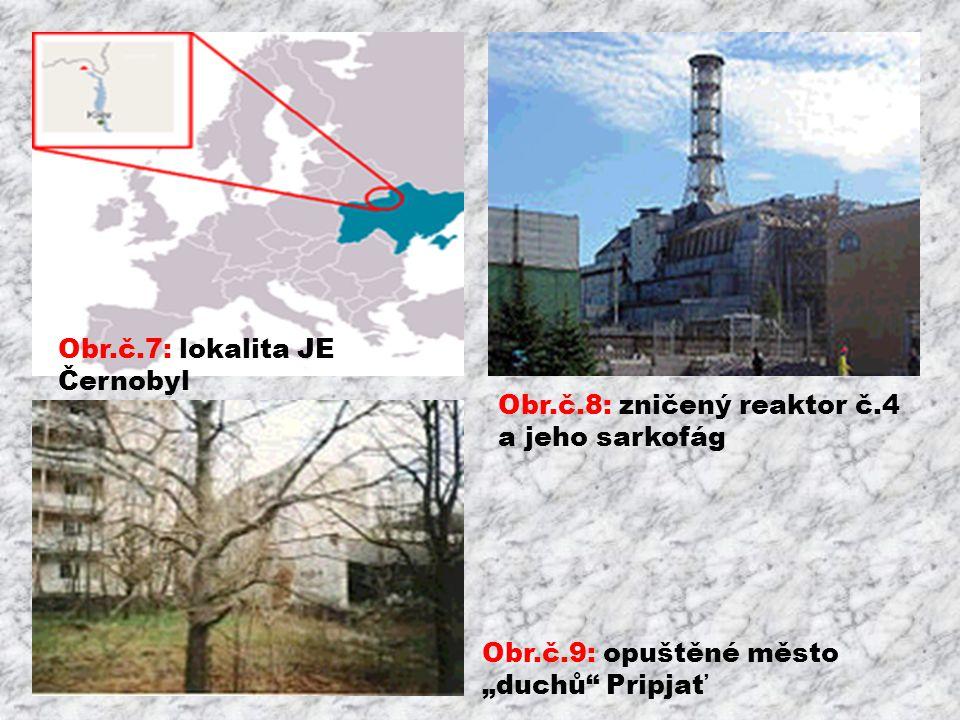 Obr.č.7: lokalita JE Černobyl