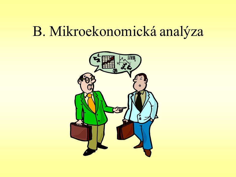 B. Mikroekonomická analýza