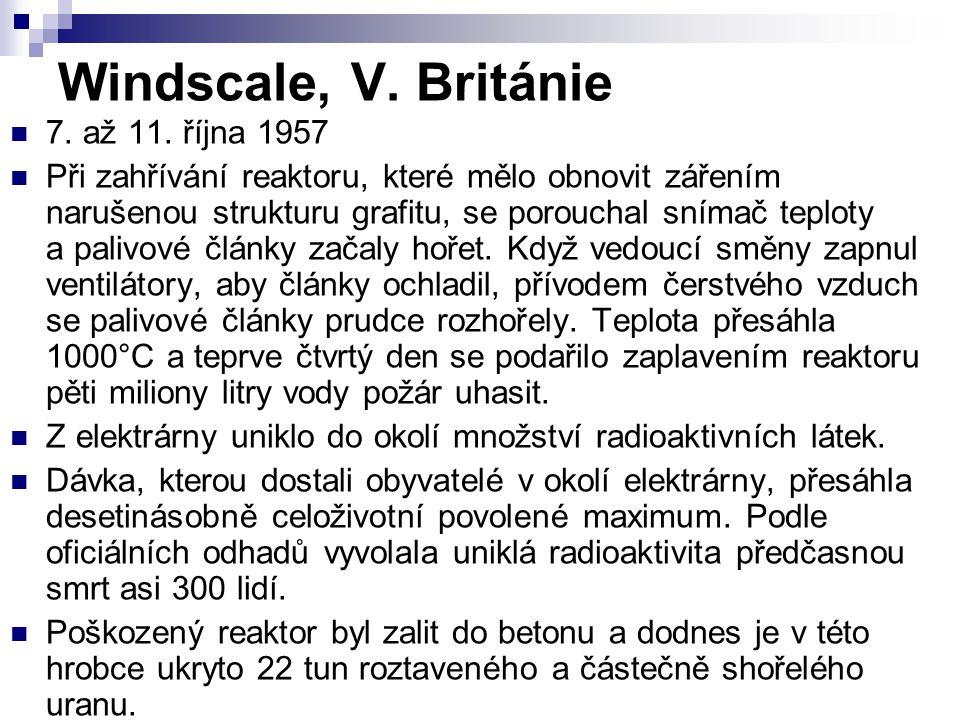 Windscale, V. Británie 7. až 11. října 1957