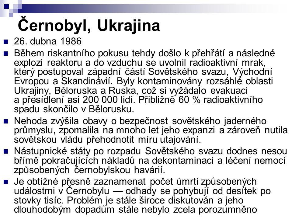 Černobyl, Ukrajina 26. dubna 1986