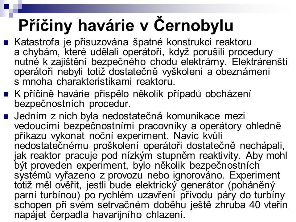 Příčiny havárie v Černobylu