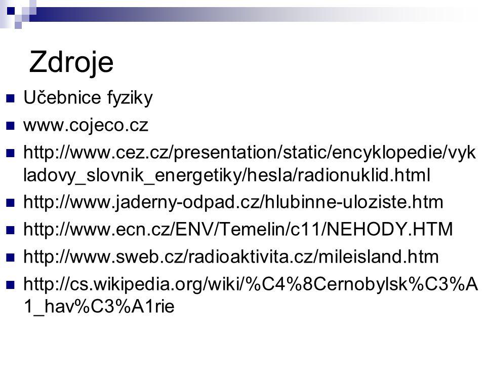 Zdroje Učebnice fyziky www.cojeco.cz