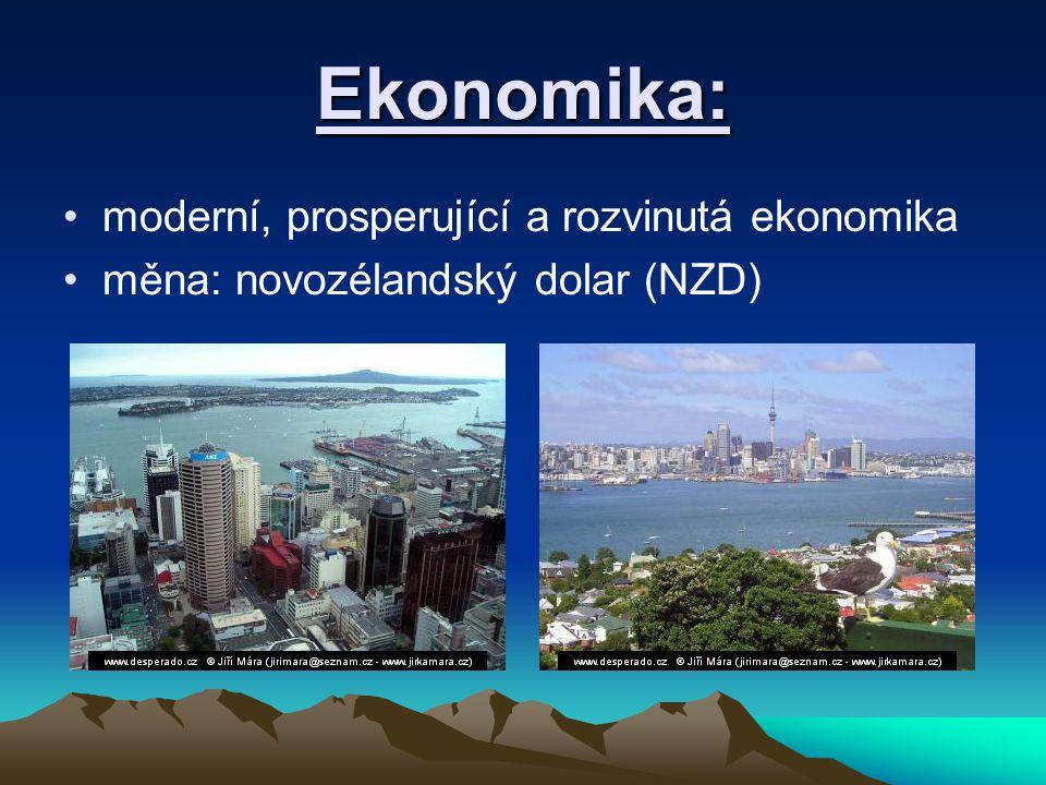 Ekonomika: moderní, prosperující a rozvinutá ekonomika