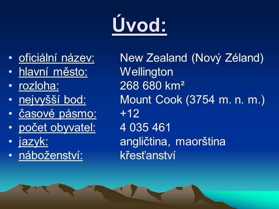 Úvod: oficiální název: New Zealand (Nový Zéland)