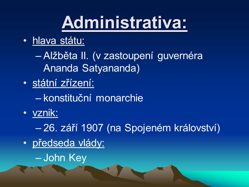 Administrativa: hlava státu: