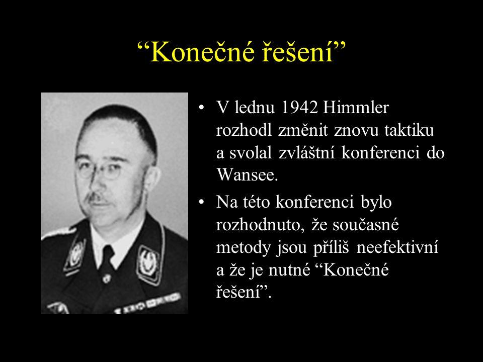 Konečné řešení V lednu 1942 Himmler rozhodl změnit znovu taktiku a svolal zvláštní konferenci do Wansee.