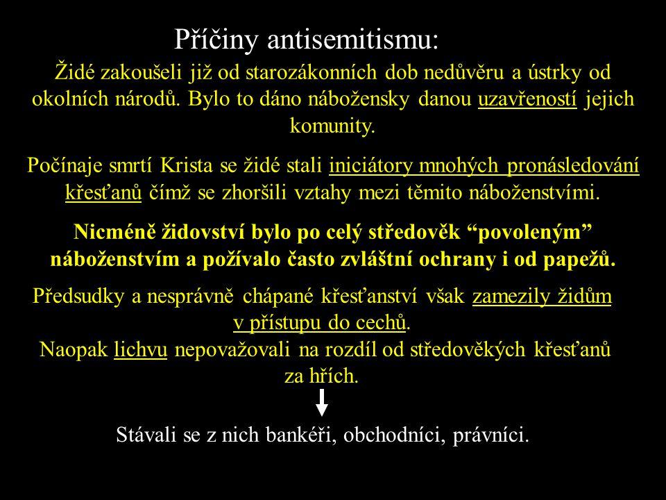 Příčiny antisemitismu:
