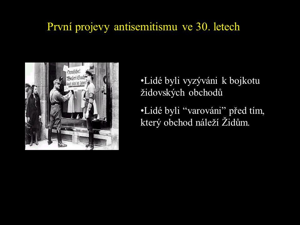 První projevy antisemitismu ve 30. letech