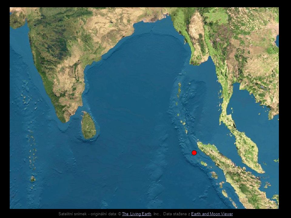 Satelitní snímek - originální data: © The Living Earth, Inc