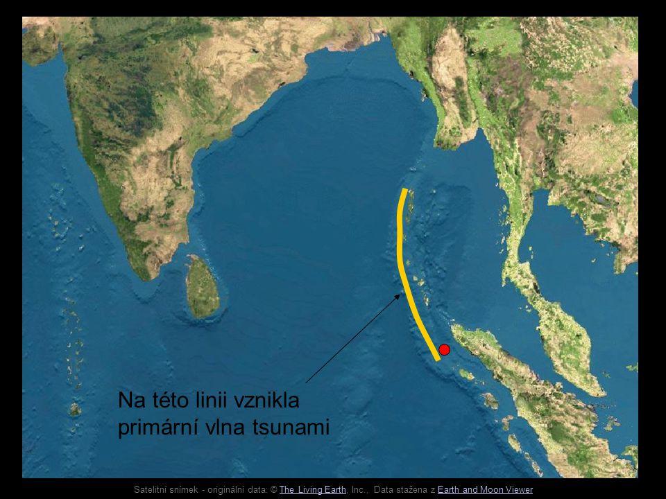 Na této linii vznikla primární vlna tsunami