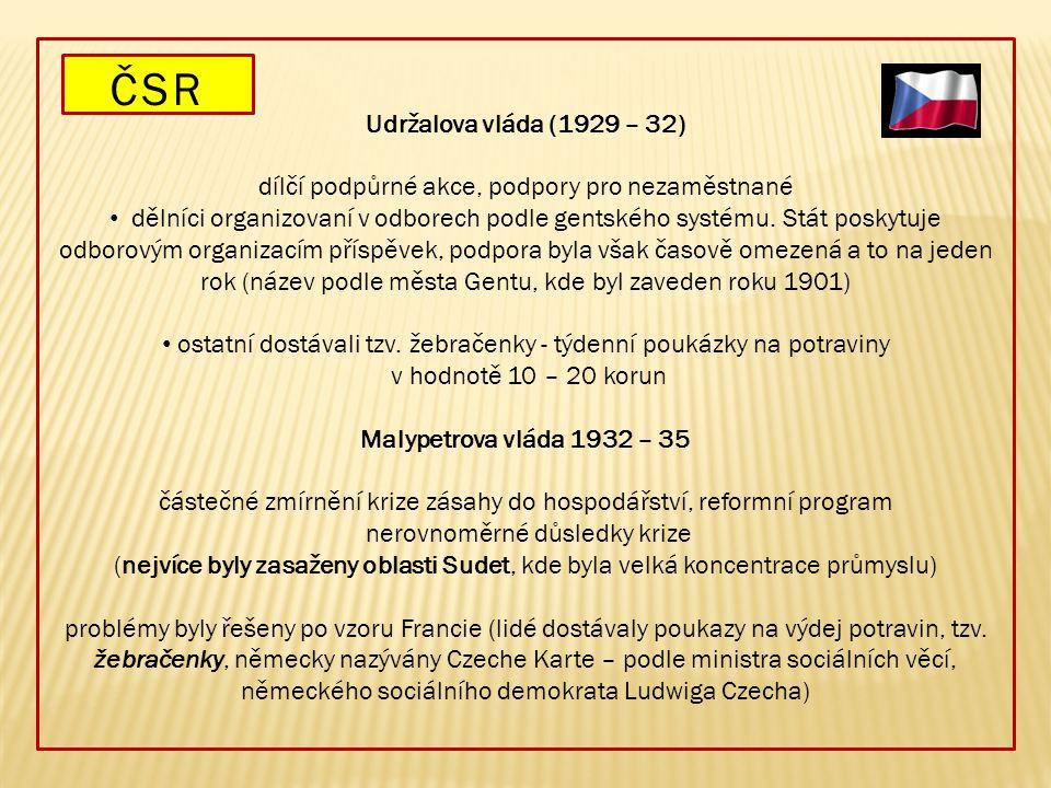 ČSR Udržalova vláda (1929 – 32)