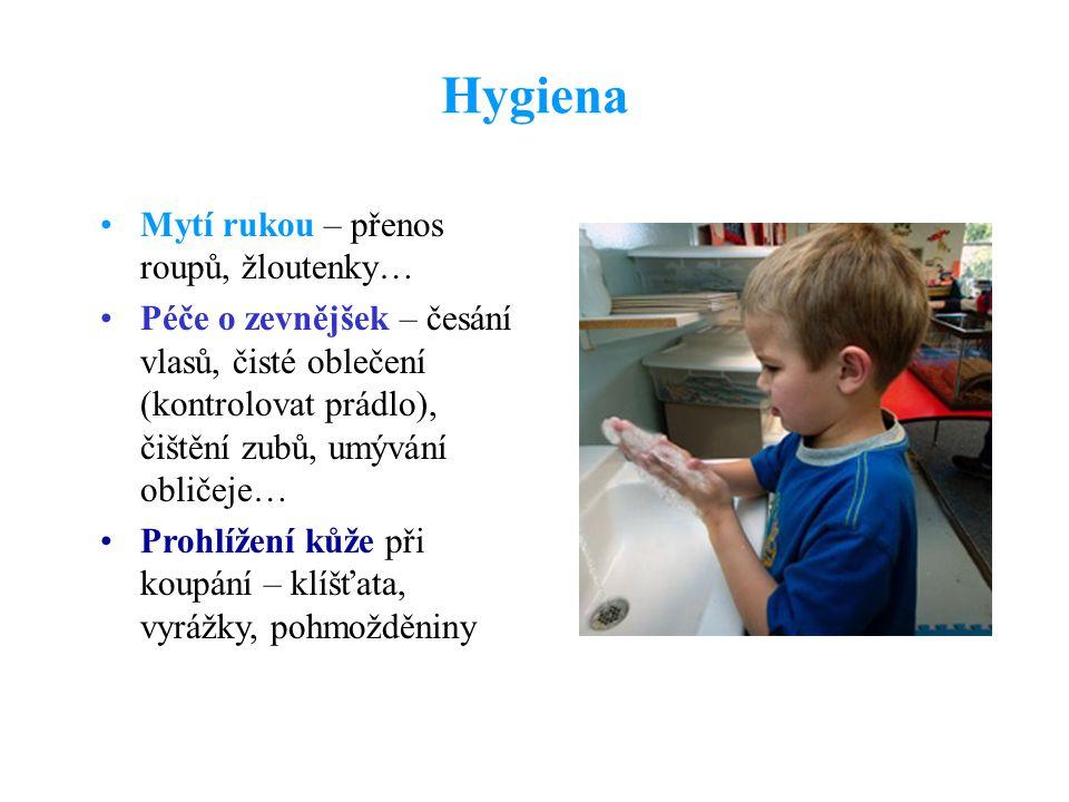 Hygiena Mytí rukou – přenos roupů, žloutenky…