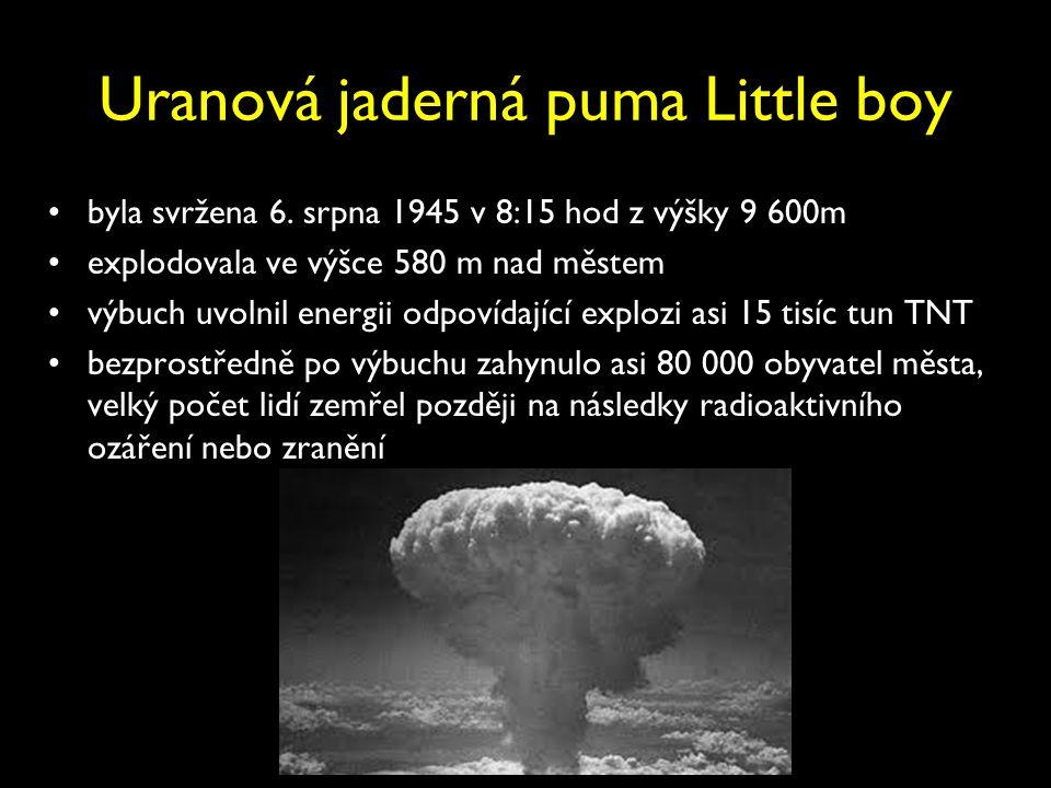 Uranová jaderná puma Little boy