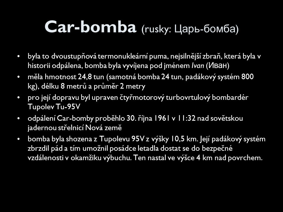 Car-bomba (rusky: Царь-бомба)
