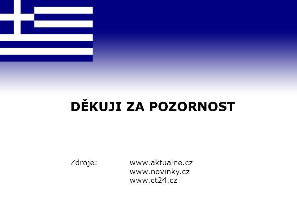 DĚKUJI ZA POZORNOST Zdroje: www.aktualne.cz www.novinky.cz www.ct24.cz
