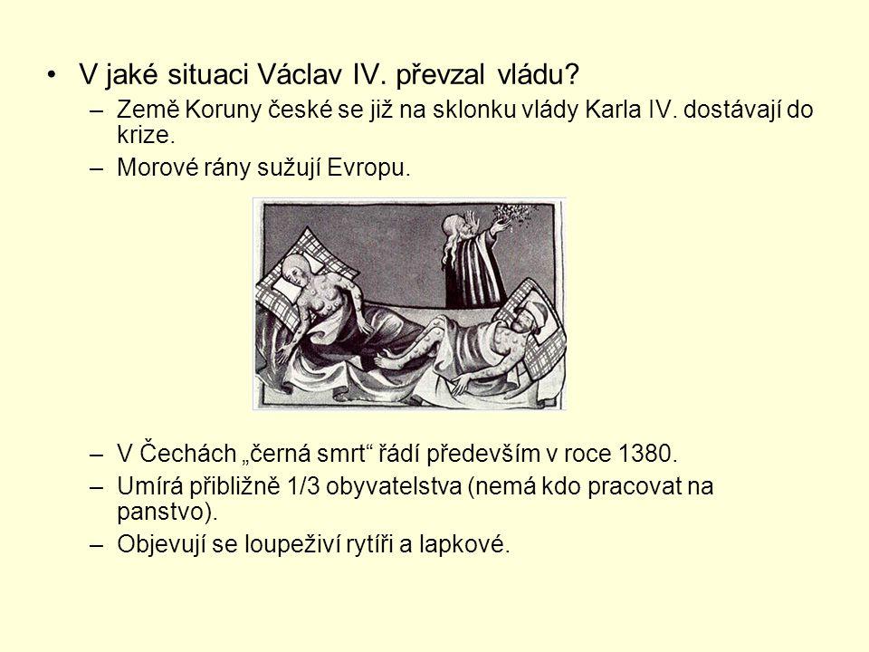 V jaké situaci Václav IV. převzal vládu