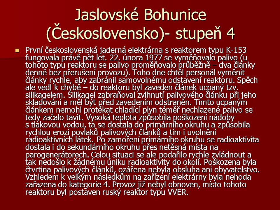 Jaslovské Bohunice (Československo)- stupeň 4