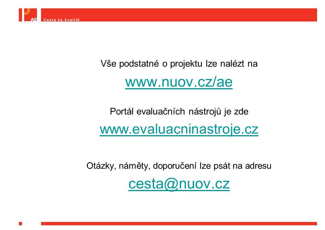 www.nuov.cz/ae cesta@nuov.cz www.evaluacninastroje.cz