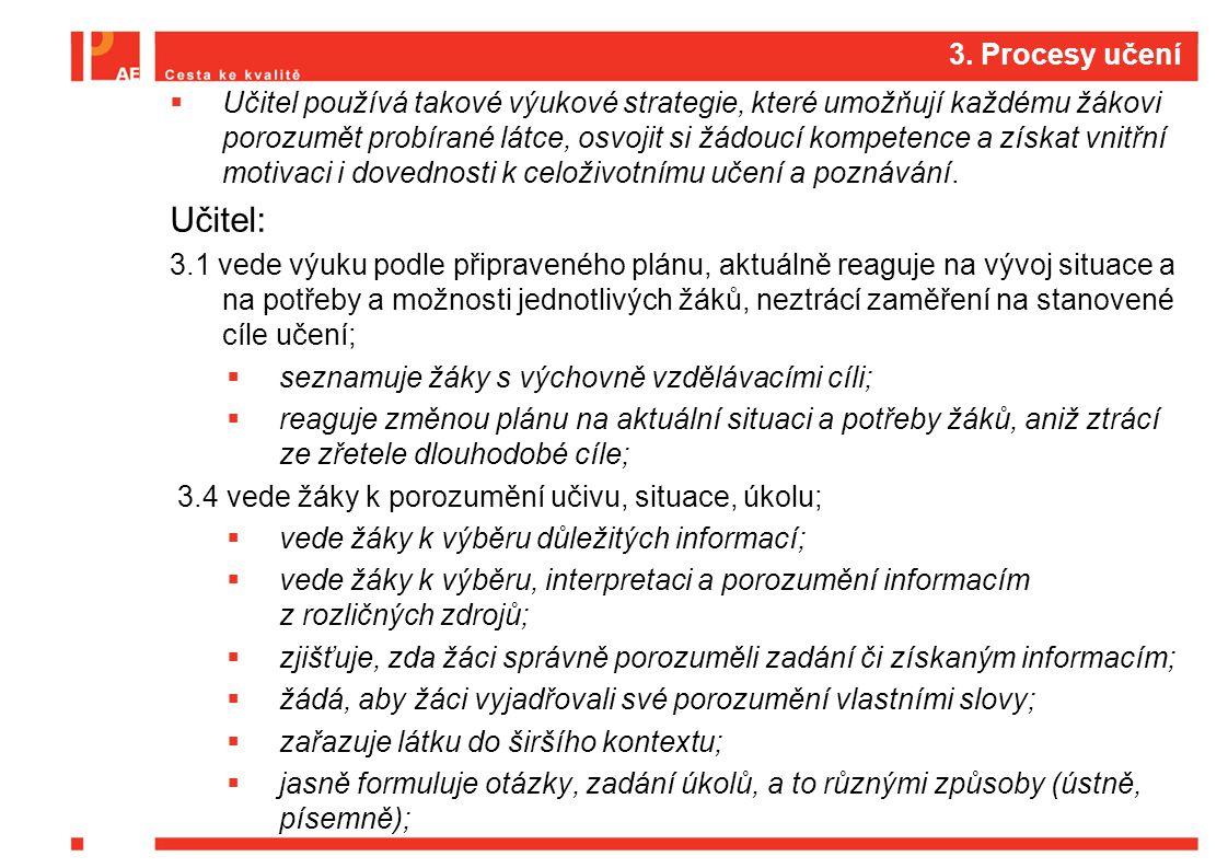 3. Procesy učení