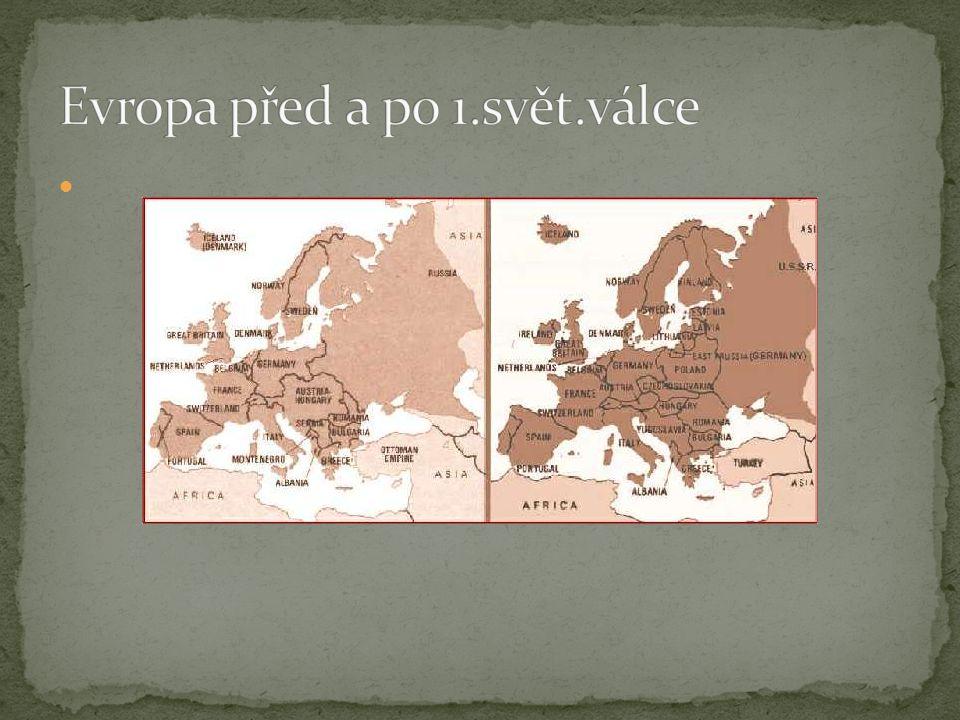 Evropa před a po 1.svět.válce