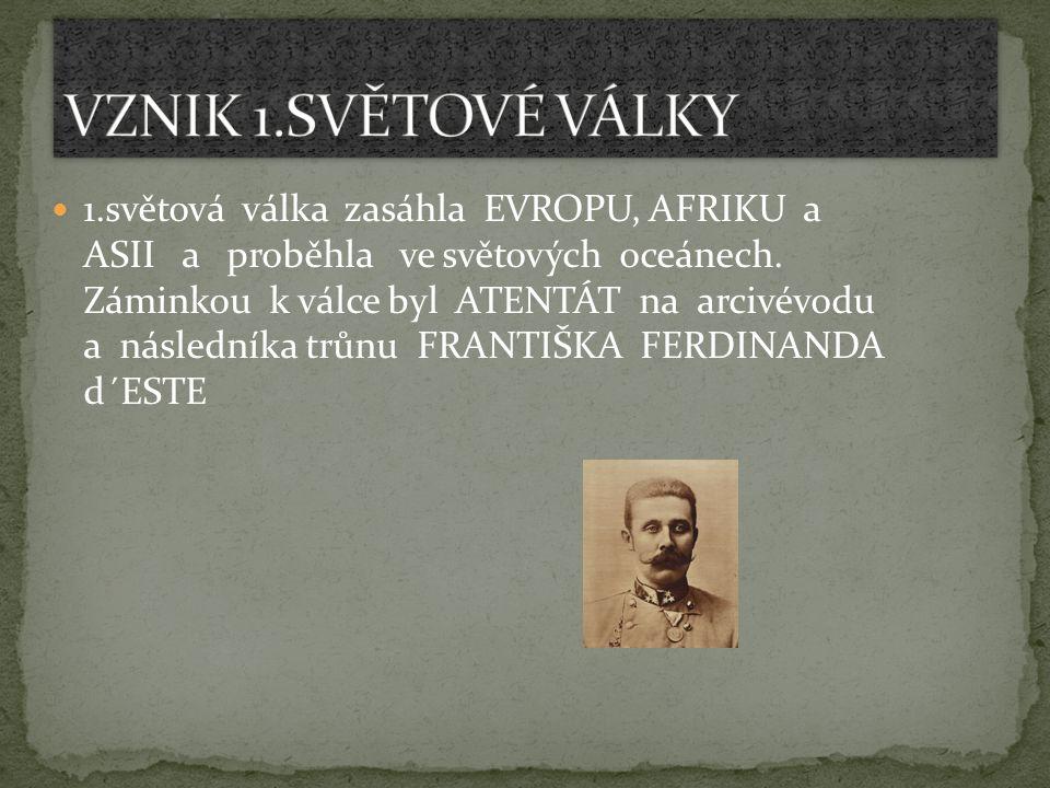 VZNIK 1.SVĚTOVÉ VÁLKY