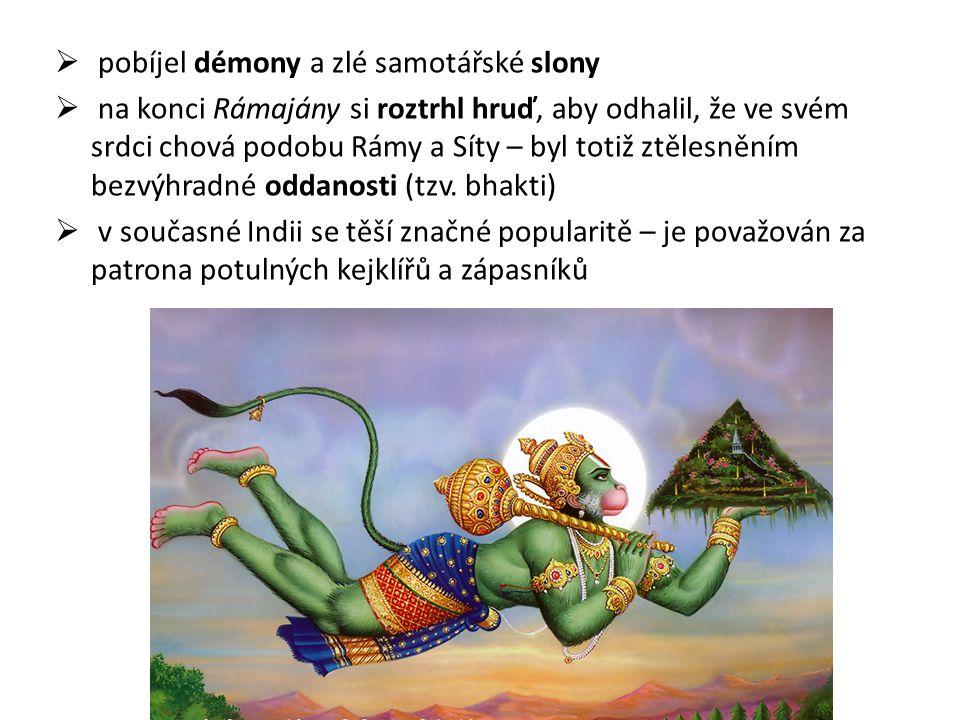 pobíjel démony a zlé samotářské slony