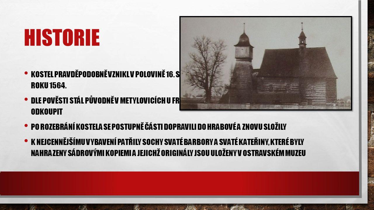 Historie Kostel pravděpodobně vznikl v polovině 16. století, avšak první písemná zmínka je však z roku 1564.