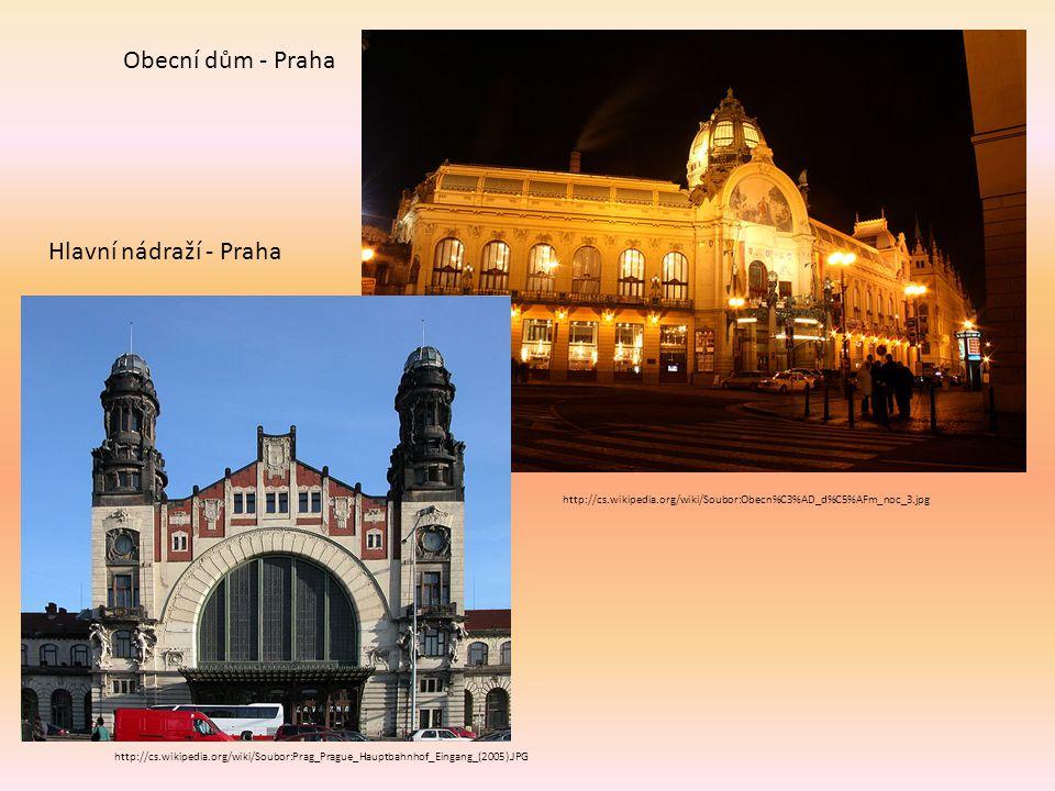 Obecní dům - Praha Hlavní nádraží - Praha