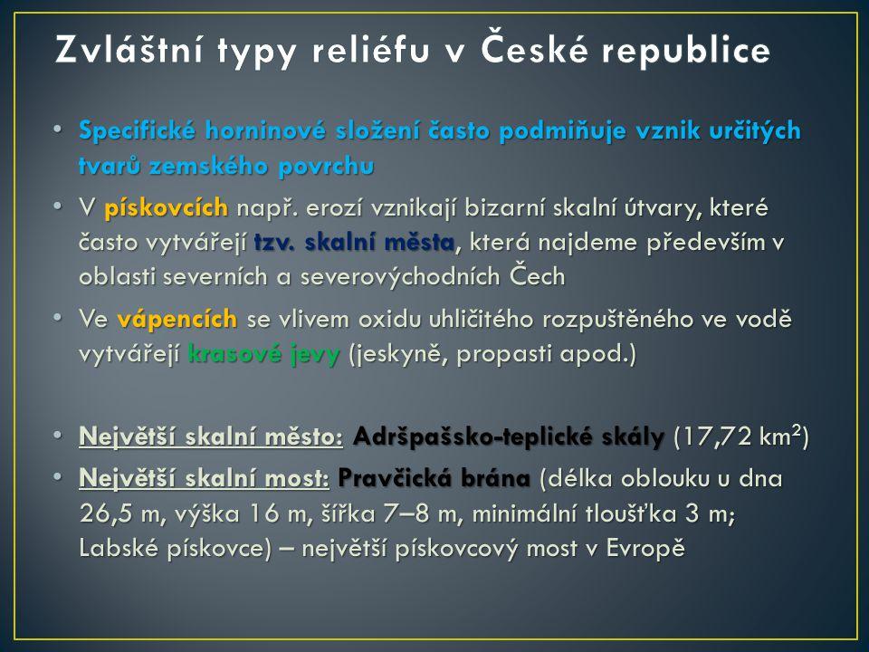 Zvláštní typy reliéfu v České republice