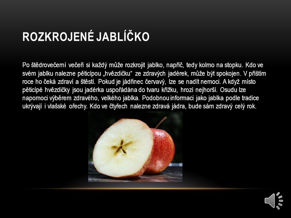 Rozkrojené jablíčko