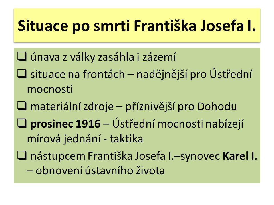 Situace po smrti Františka Josefa I.