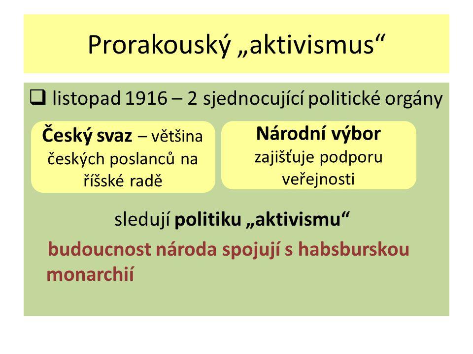 """Prorakouský """"aktivismus"""