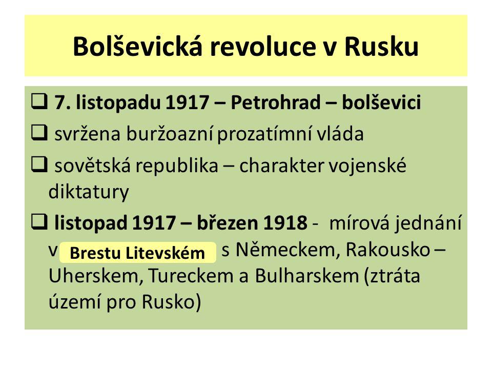 Bolševická revoluce v Rusku