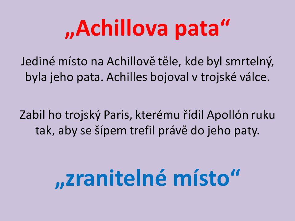 """Achillova pata ""zranitelné místo"