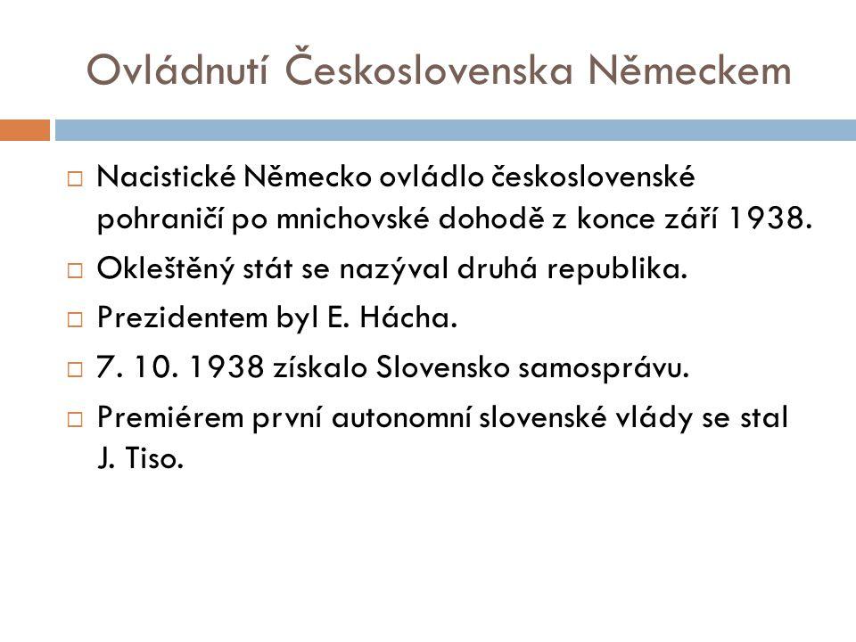 Ovládnutí Československa Německem