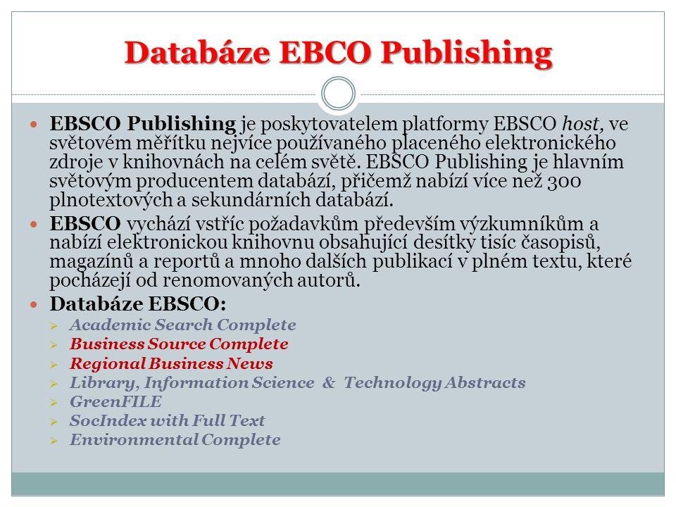 Databáze EBCO Publishing