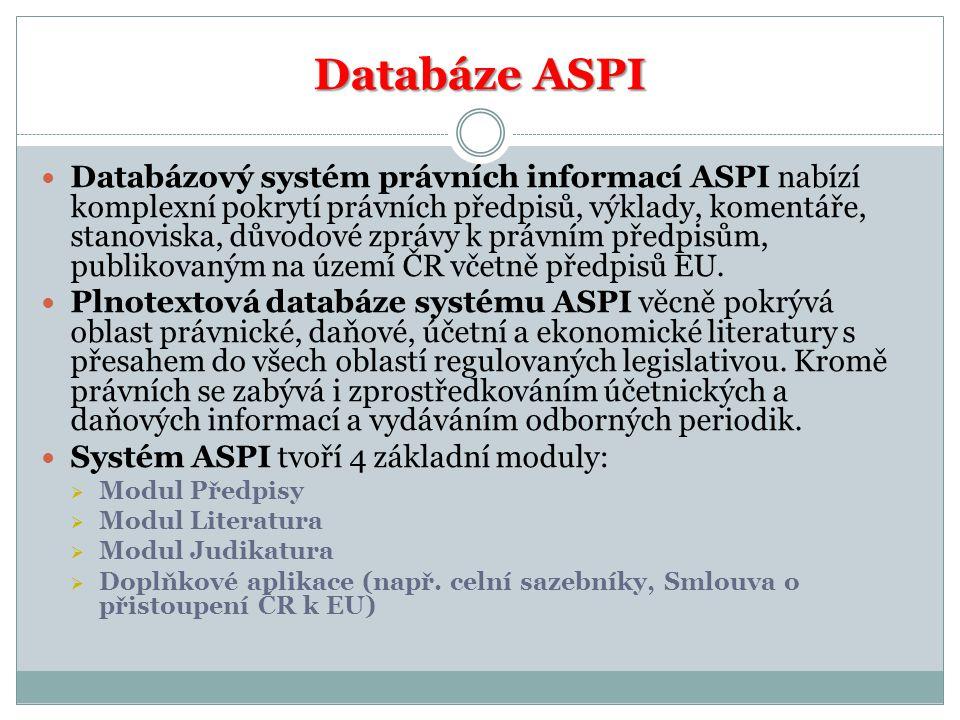 Databáze ASPI