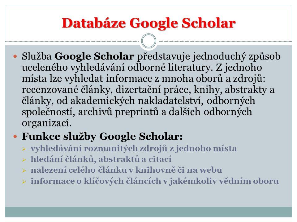 Databáze Google Scholar