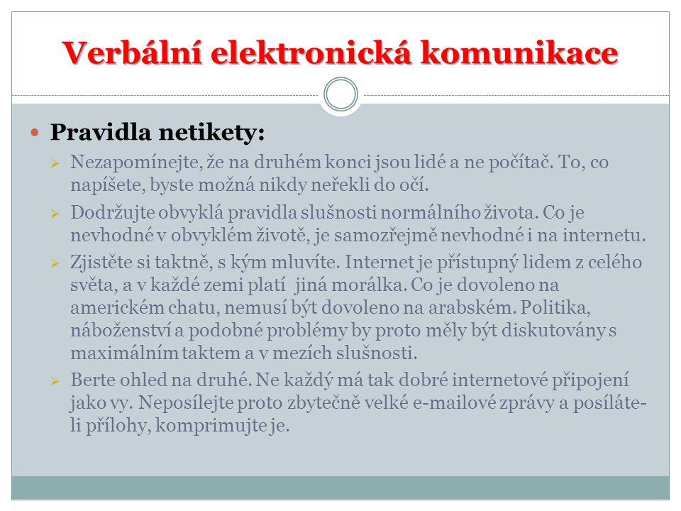 Verbální elektronická komunikace
