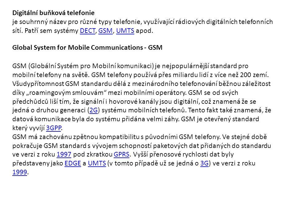 Digitální buňková telefonie