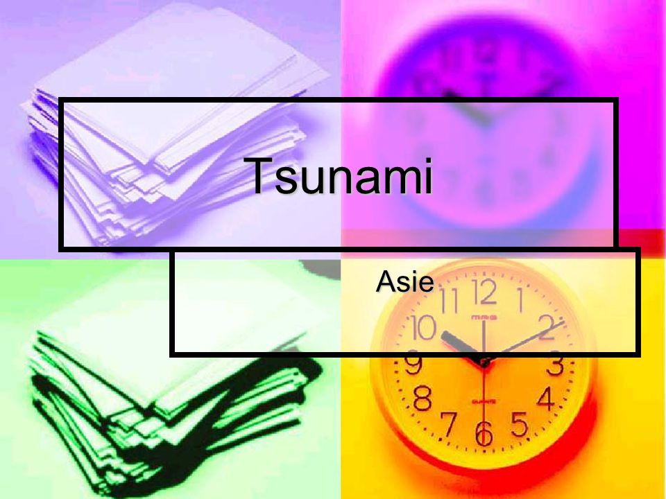 Tsunami Asie