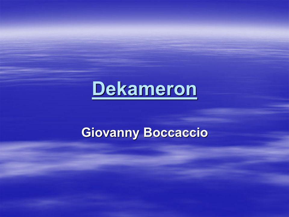 Dekameron Giovanny Boccaccio