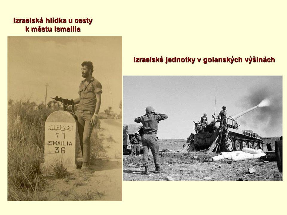 Izraelská hlídka u cesty