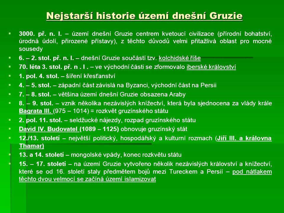 Nejstarší historie území dnešní Gruzie