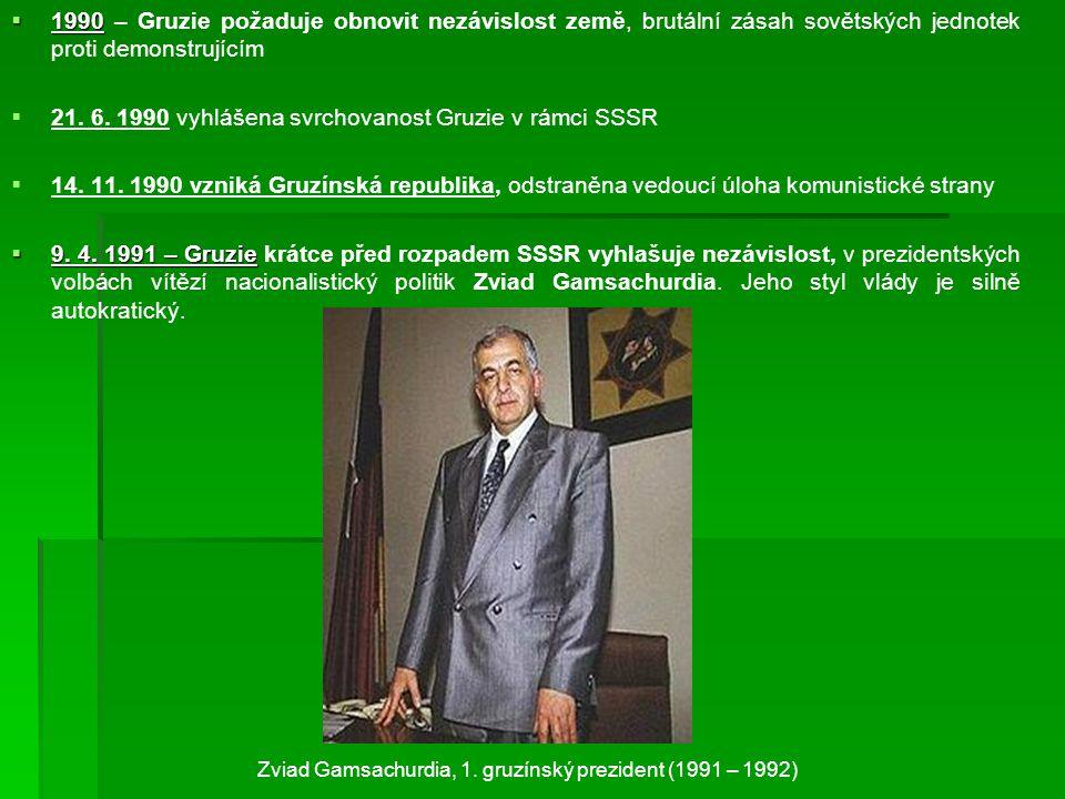 Zviad Gamsachurdia, 1. gruzínský prezident (1991 – 1992)