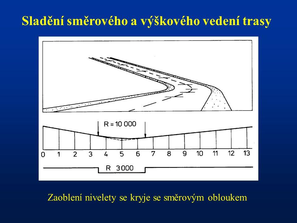 Sladění směrového a výškového vedení trasy