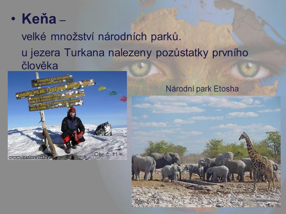 Keňa – velké množství národních parků.