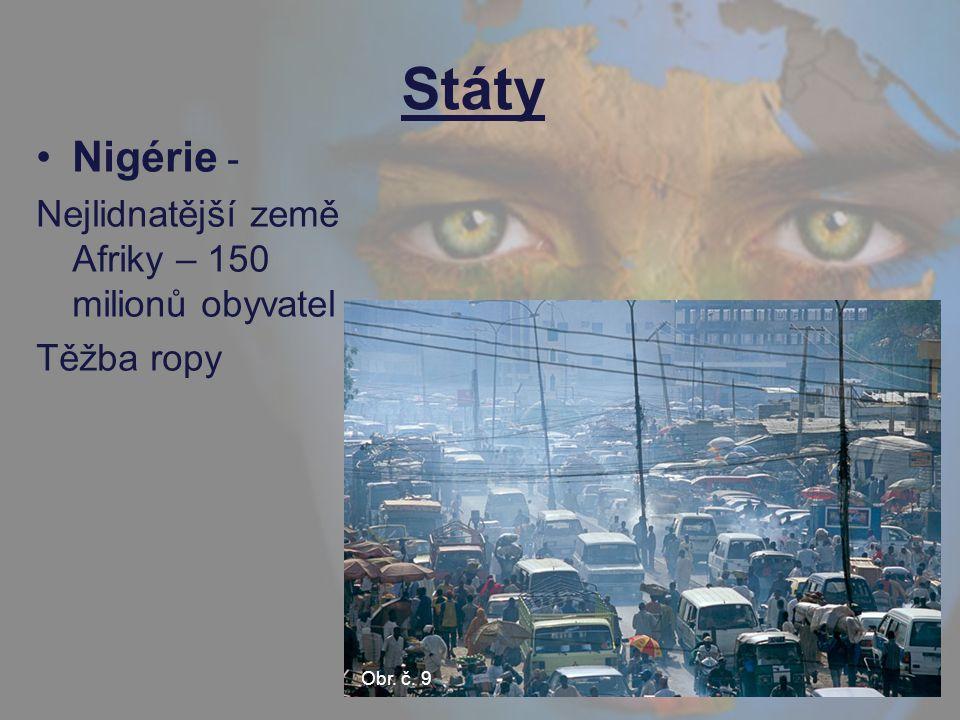 Státy Nigérie - Nejlidnatější země Afriky – 150 milionů obyvatel