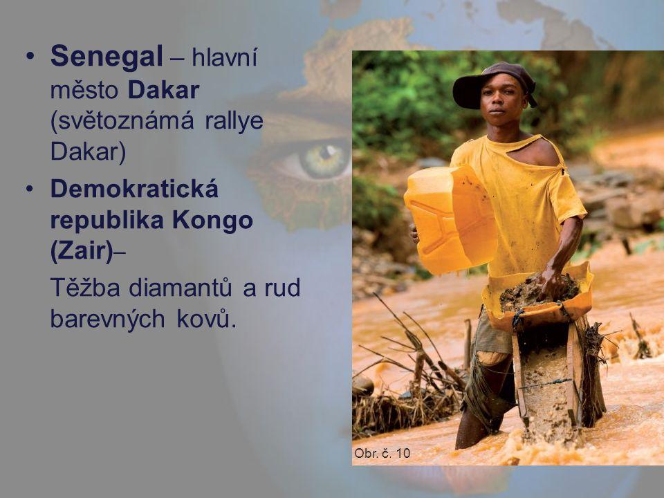 Senegal – hlavní město Dakar (světoznámá rallye Dakar)